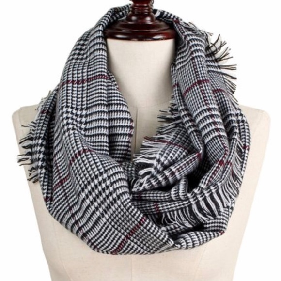 Accessories - Plaid / Check Infinity Scarf - Classic colors